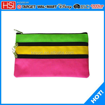 Wholesale Factory Price Polyester Fabric 3 Zipper 3 Colors Pencil ...