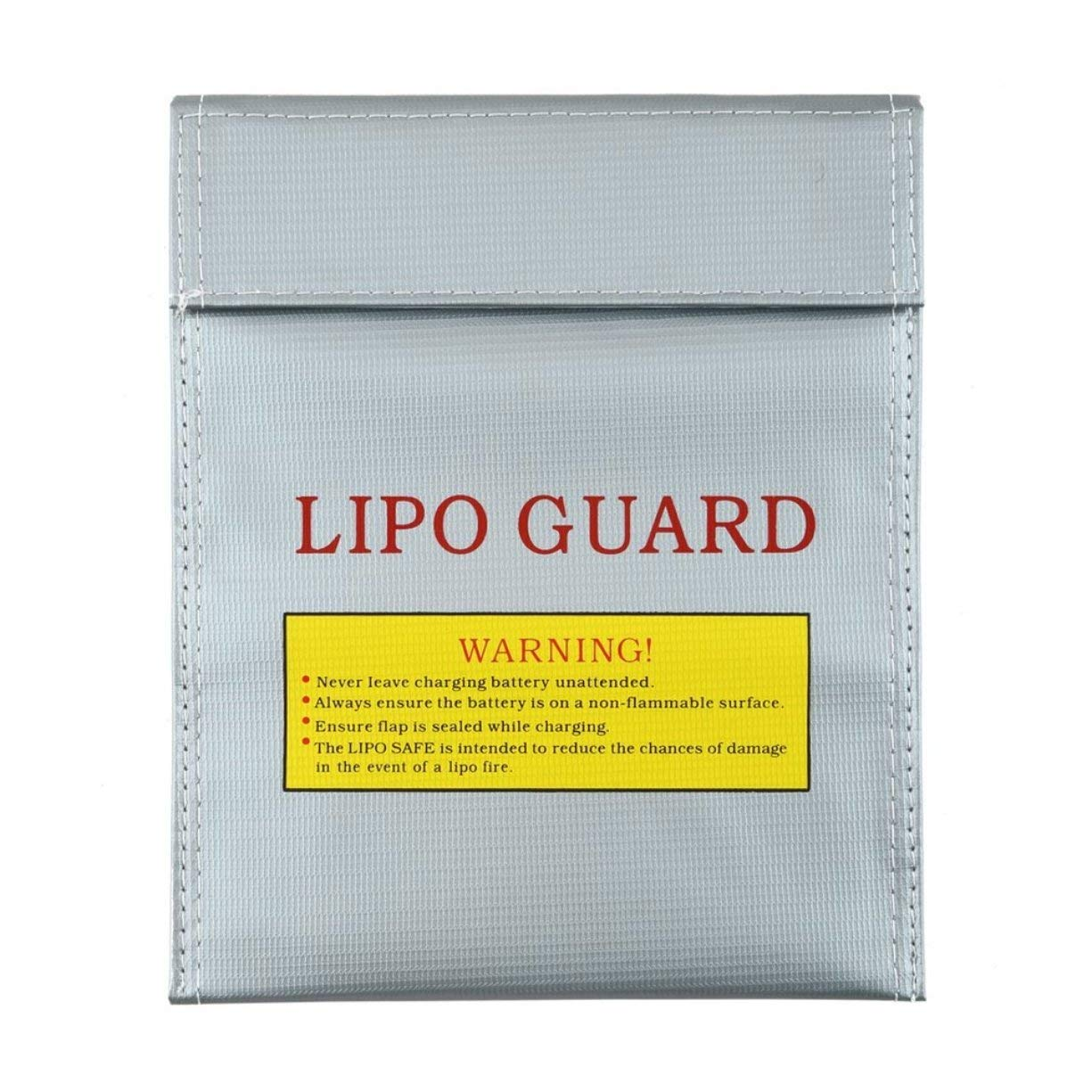 LiPo Battery Safety Guard Charge Bag, RC LiPo Li-Po Battery Fireproof Safety Guard Safe Bag Charging Sack Battery Safety Protective Bag Safe Guard Silver