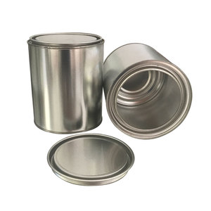 1 liter round paint tin can with mental lid, tin bucket for glue, latex all solvent
