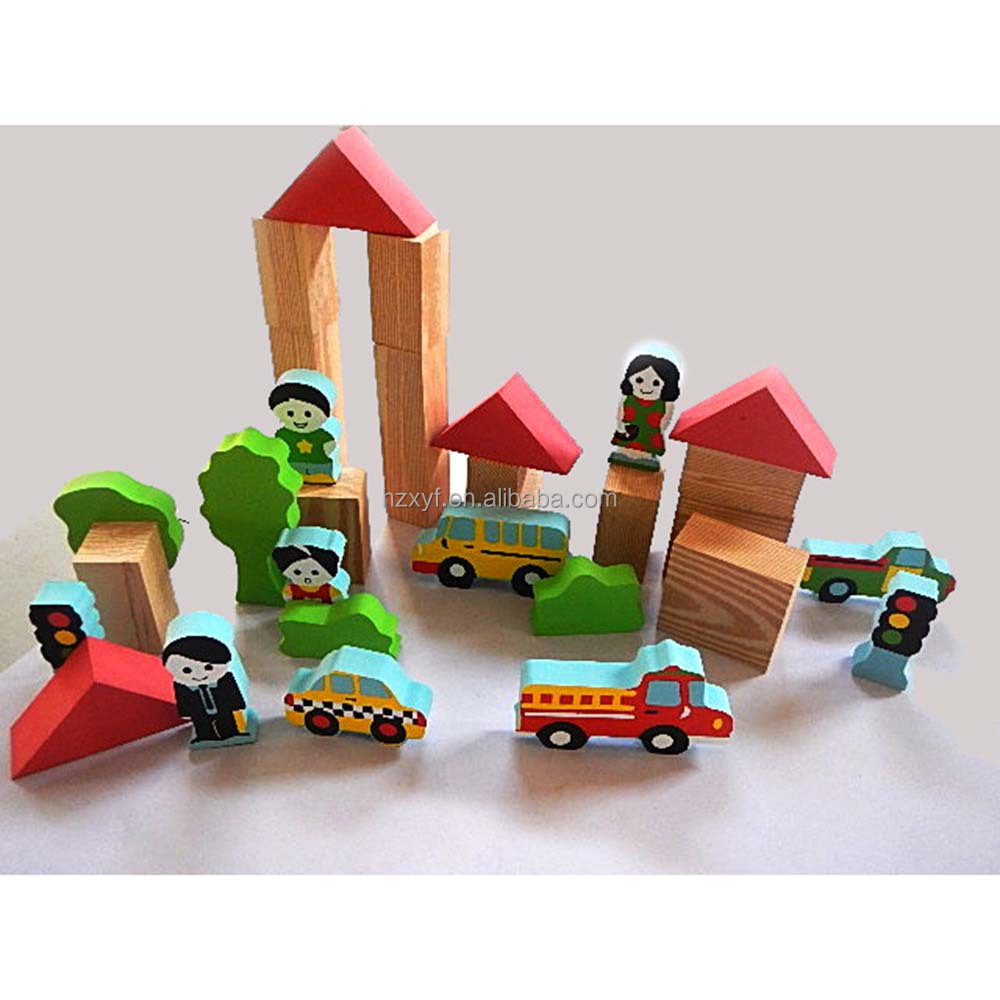 Cheap toy eva foam rubber sim city building blocks for kids
