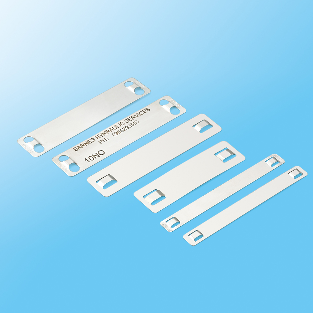 China Supplier Stainless Steel Cable Labels Used with SS Cable Ties