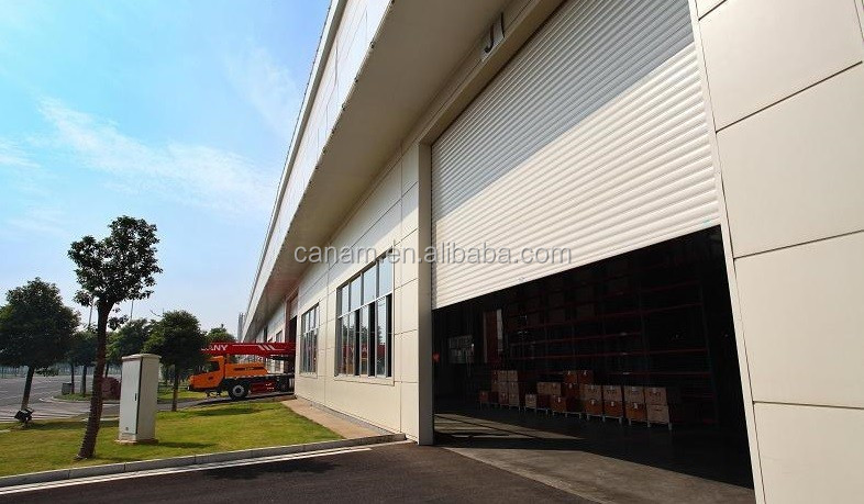 strong windproof steel industrial rolling door with CE cetifaicate anti 12 levels of winds