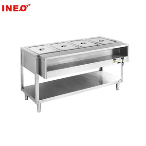 Commercial Restaurant Stainless Steel Gas Buffet Bain Marie With Undershelf