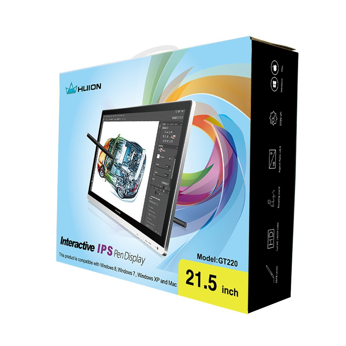 Huion Gt 220 Professional Lcd Drawing Board Graphic Tablet