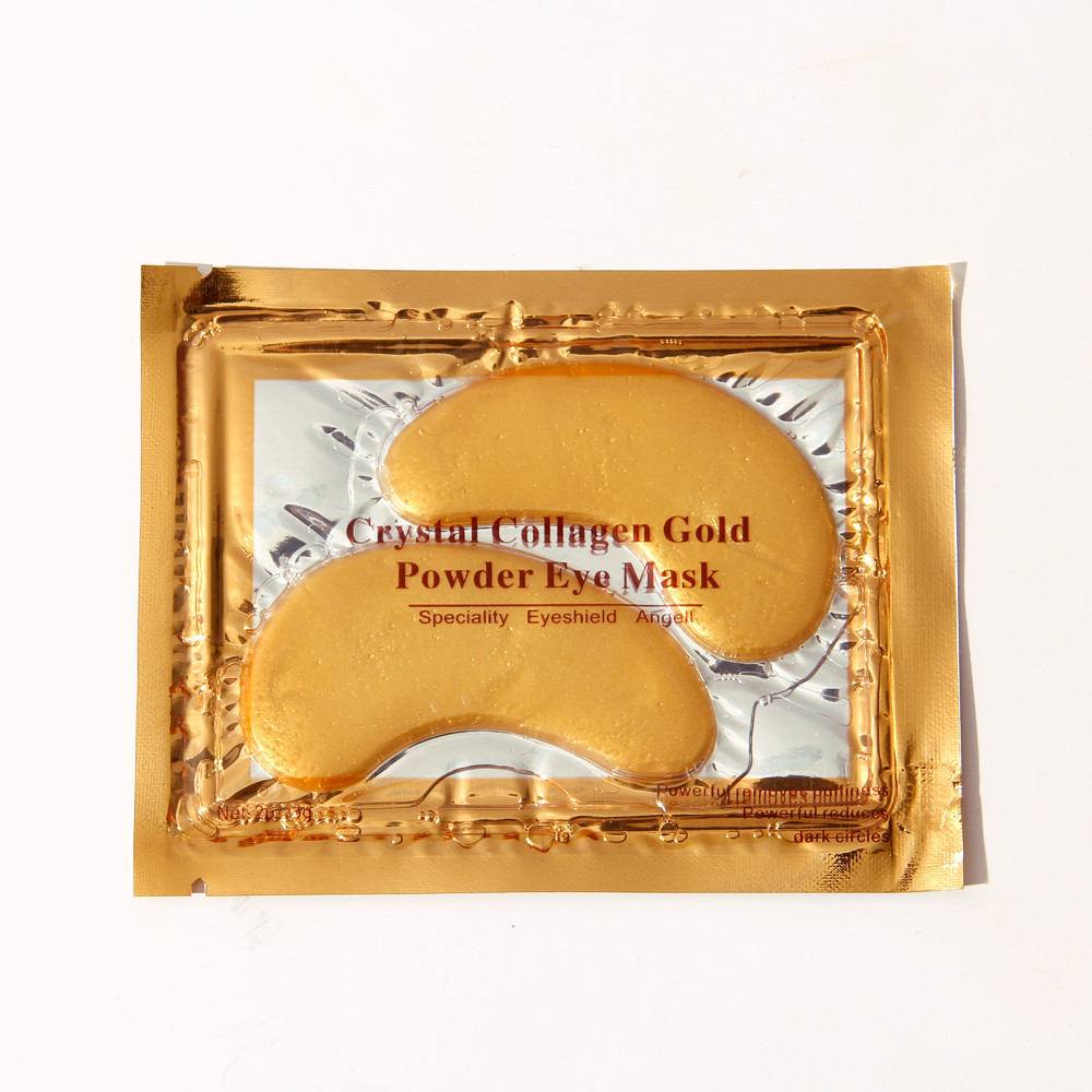 Hot Koop Bestseller 24 KGold Collageen Crystal Eye Mask Anti Wallen Dark Circle Eye Patches Anti-Aging Rimpel
