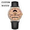 Alibaba Hot Selling Men Watch Leather Band Design Your Own Watch Custom Logo Wrist Watch