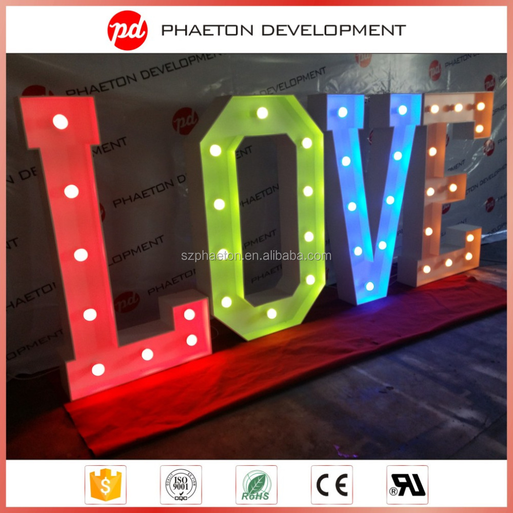 High quality electronic led letters marquee light sign