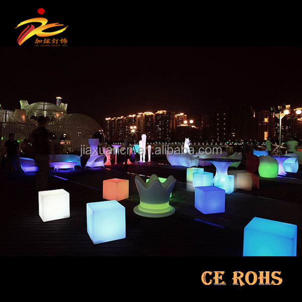15X15X15cm,20X20X20cm led cube seat with iluminated lighting for event