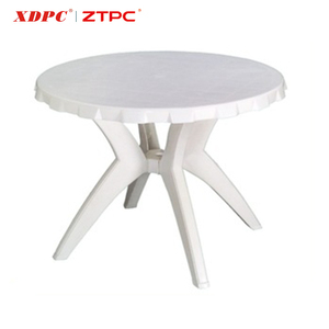 Wholesale prices outdoor plastic antique round picnic table white color