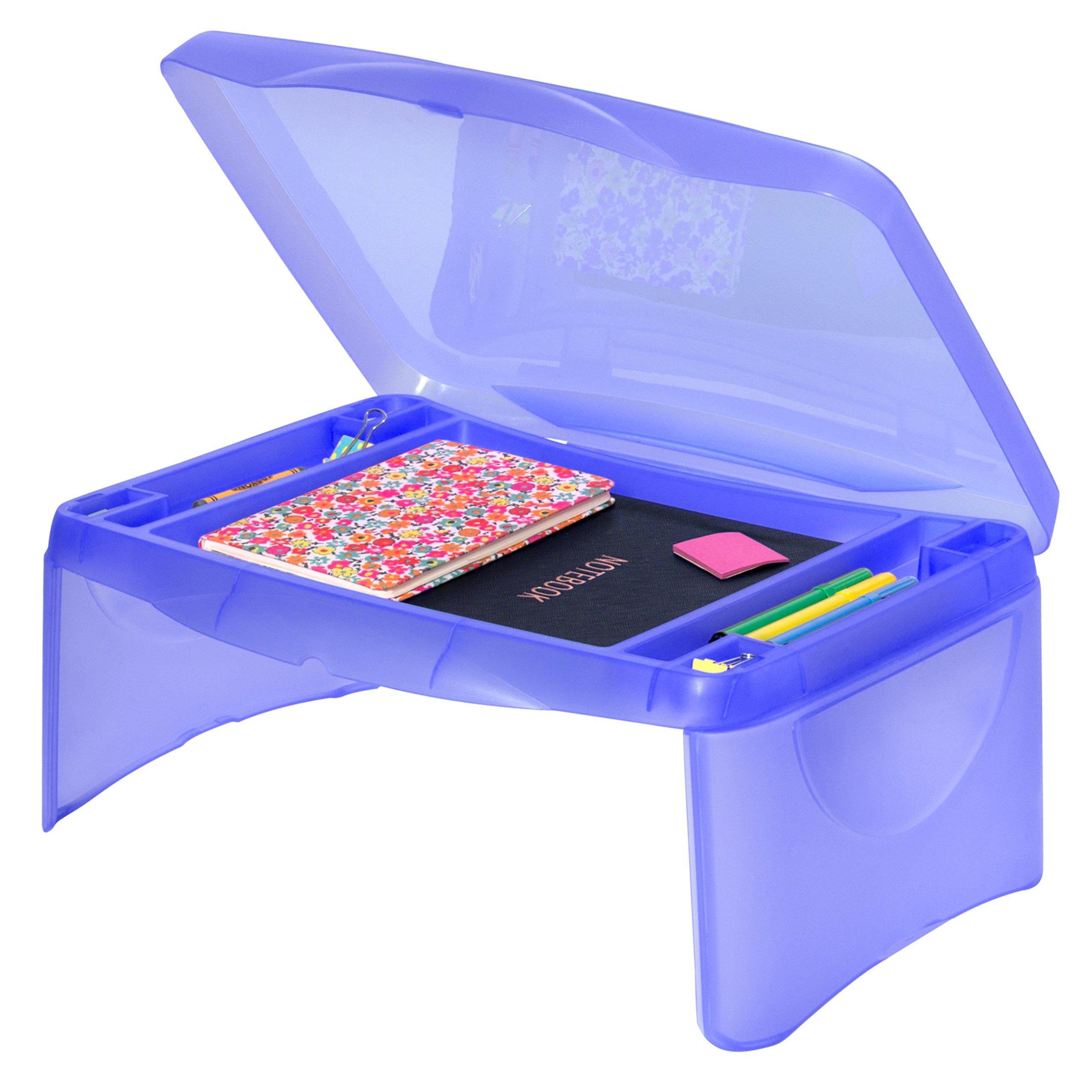 Best Choice Products Kids Folding Lap Desk W/Storage- Blue