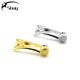 Fashion silver gold pipe shaped tie pin clip custom mens tie tack pin