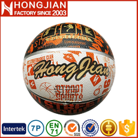 HB027 promotional quality rubber basketball ball for kids