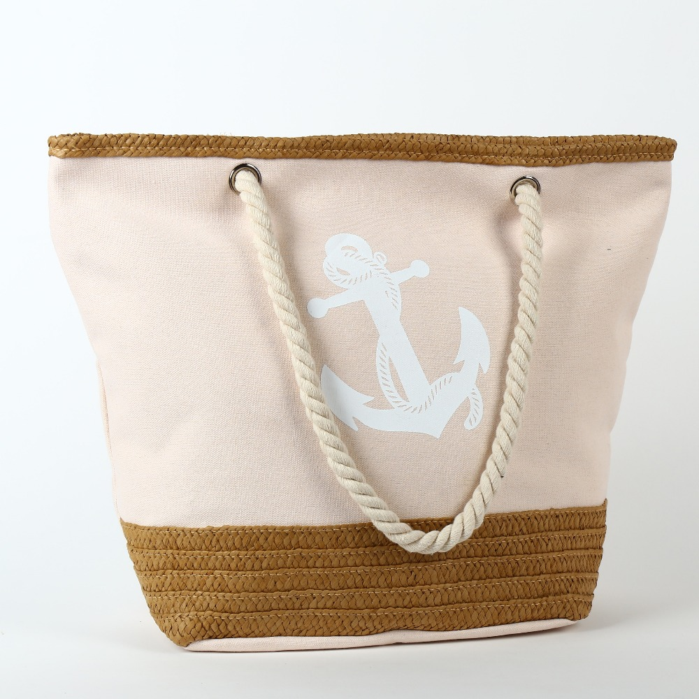 Canvas Rope Handle Beach Bag Wholesale, Canvas Rope Handle Beach ...
