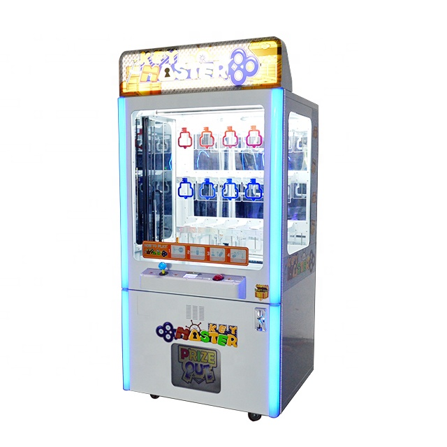 Muntautomaat Key Master Game Gouden Sleutel Prize Vending Game Machine Met Bill Acceptor