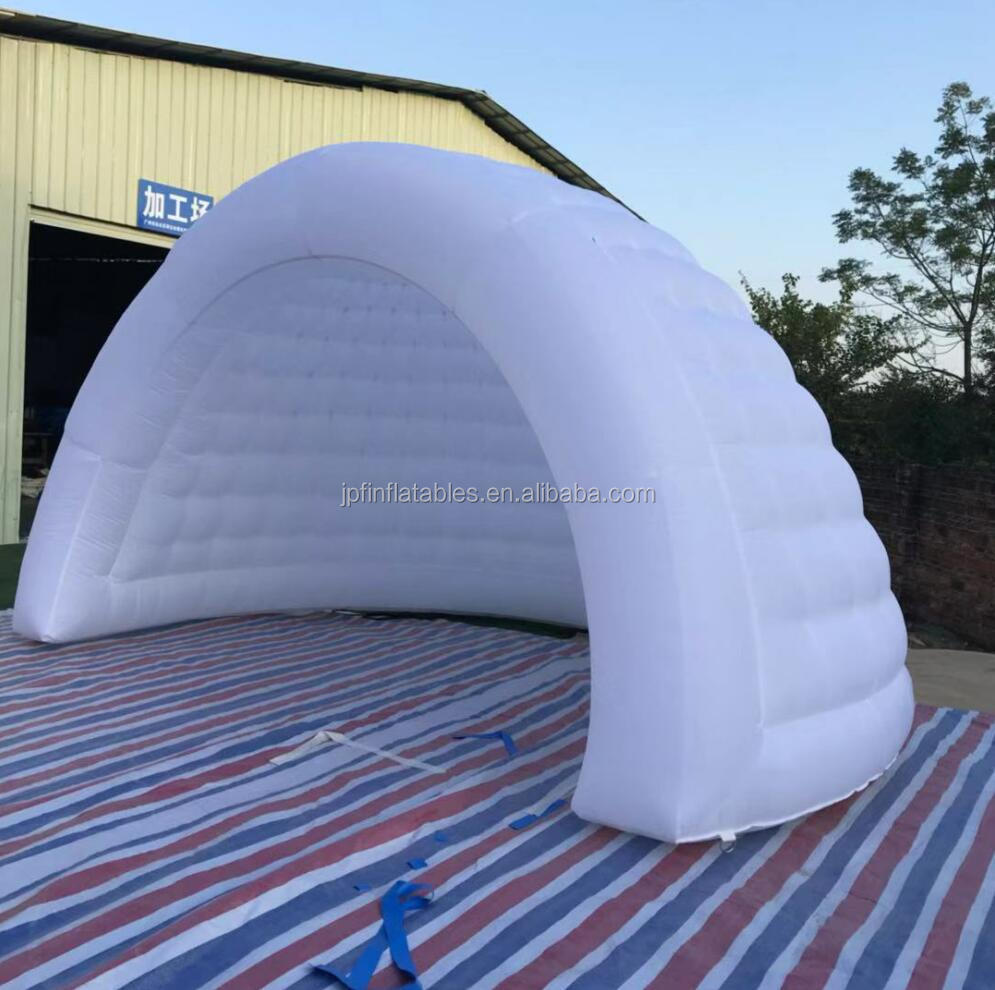2019 white color oxford fabric inflatable igloo dome house for sale