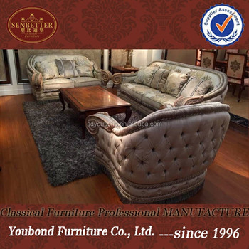 10055 Arabic Luxury Classic Ivory Living Room Sofa Furniture