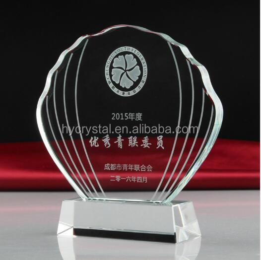hot sale newest design tree shaped mirror ball crystal hand award trophy