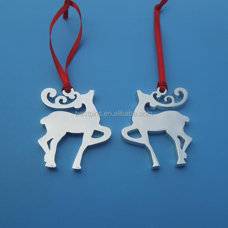 Fashion Christmas Xmas Gift Metal Ribbon Reindeer Ornament