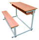 New MDF school furniture student old double single desk and chair set