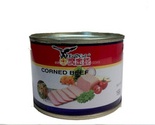Toothsome Corn Beef factory direct sale high protein round shape high protein 198g