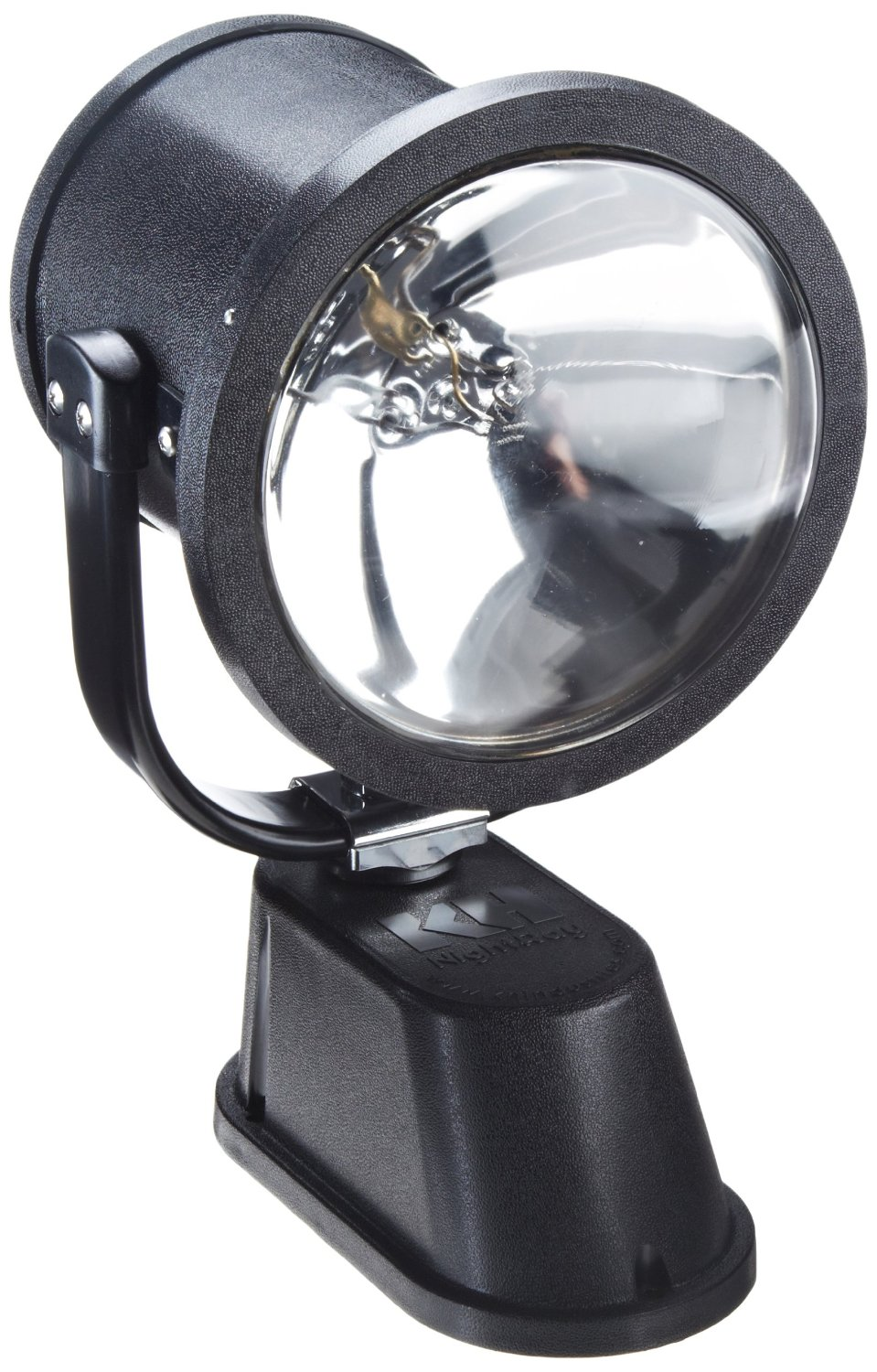 KH Industries 675-20 Vehicle Mounted NightRay Spotlight with Hardwired Dash Control Panel, 50000cp Floodlight/200000cp Spotlight