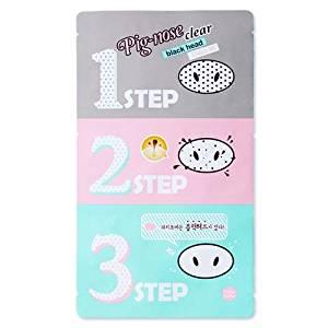 Holika Holika Pig Nose Clear Black Head 3-step Kit (5pcs) Korean Beauty [Imported]