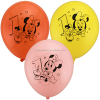 printable birthday latex balloon with screen printing logo ballon