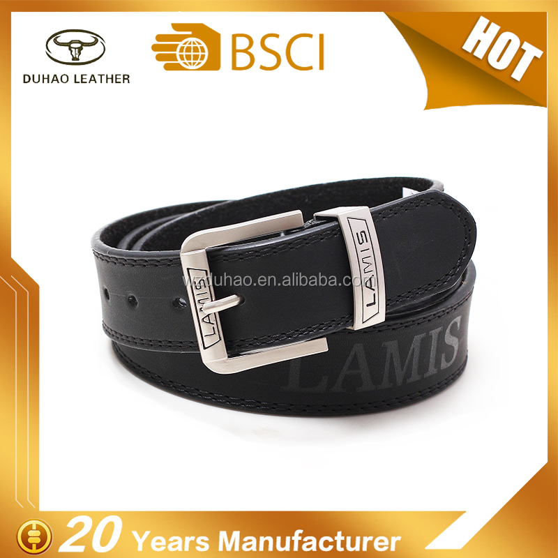 Factory Custom Fashion Lamis Brand Man Leather Belt For Dress Belt
