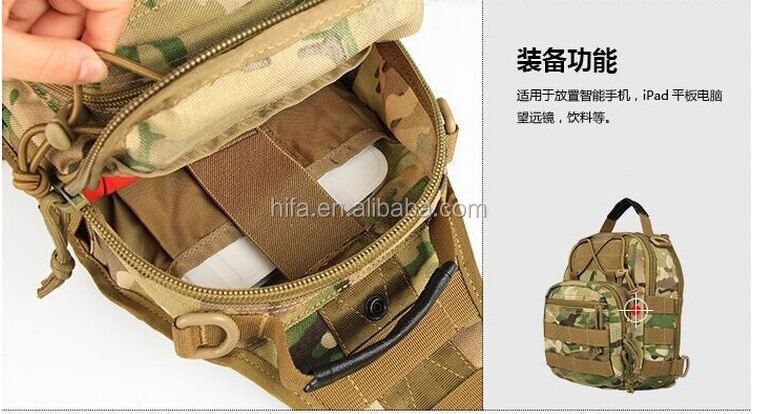 New outdoor tactical messenger chest bag ,600D nylon assault Mini tactical pocket, unisex hiking shoulder travel bags