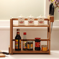 Classics 3-Tier Unique Kitchen Storage Containers Bamboo Spice Rack