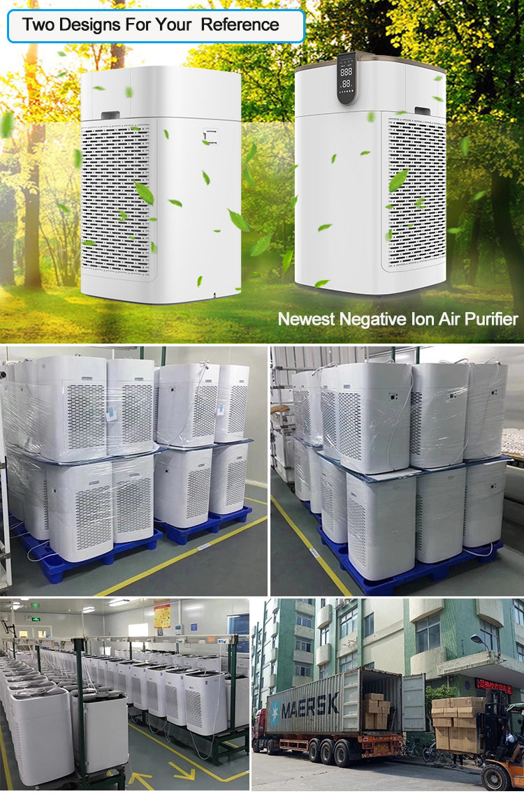 Double Hepa Filter Anion Japanese ROHS CE CB Certification Home Portable Air Purifier