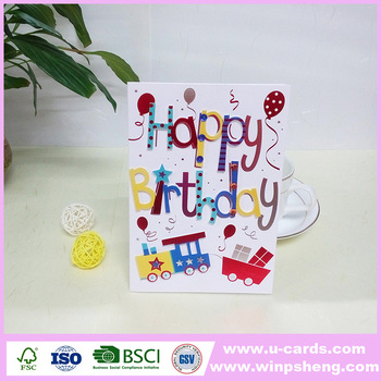 Unique Happy Birthday Decoration Handmade Greeting Card For Mother