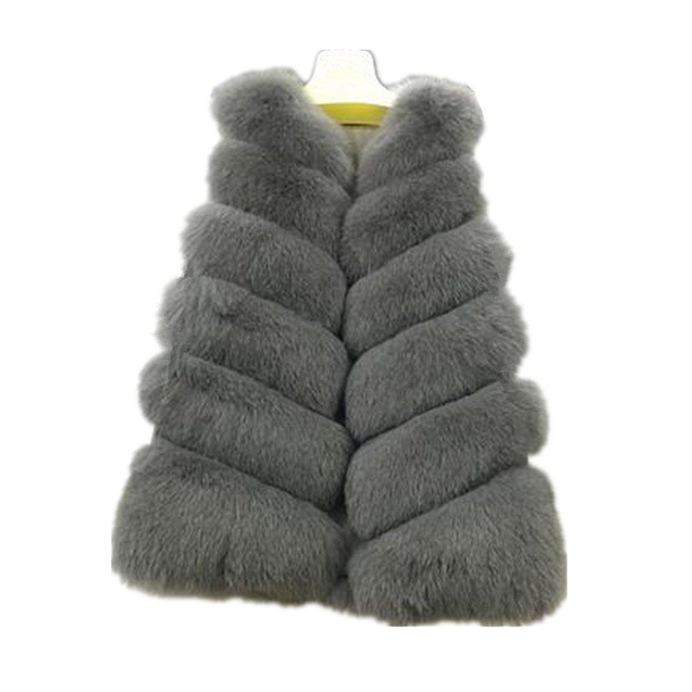 221dd5f2df5 Get Quotations · Winter Import Coat Women Faux Fur Vests Long Faux Fur Coat  Fox For Vest Women s Jacket