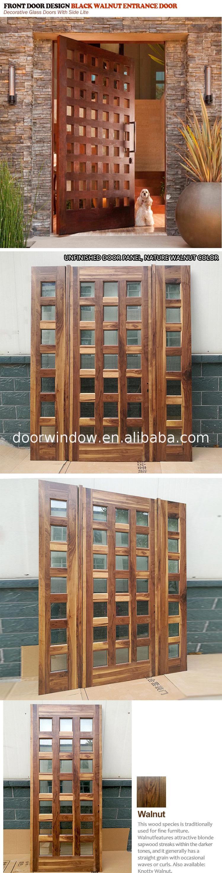 Factory outlet real wood doors quality prehung front door with sidelites