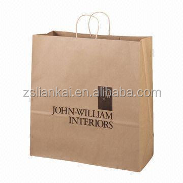 Custom Kraft Shopping Paper Bags with Logo Printed