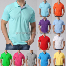 OEM Wholesale Factory Men Stylish Casual Blank Short Sleeve Slim Fit Tee Polo Shirt