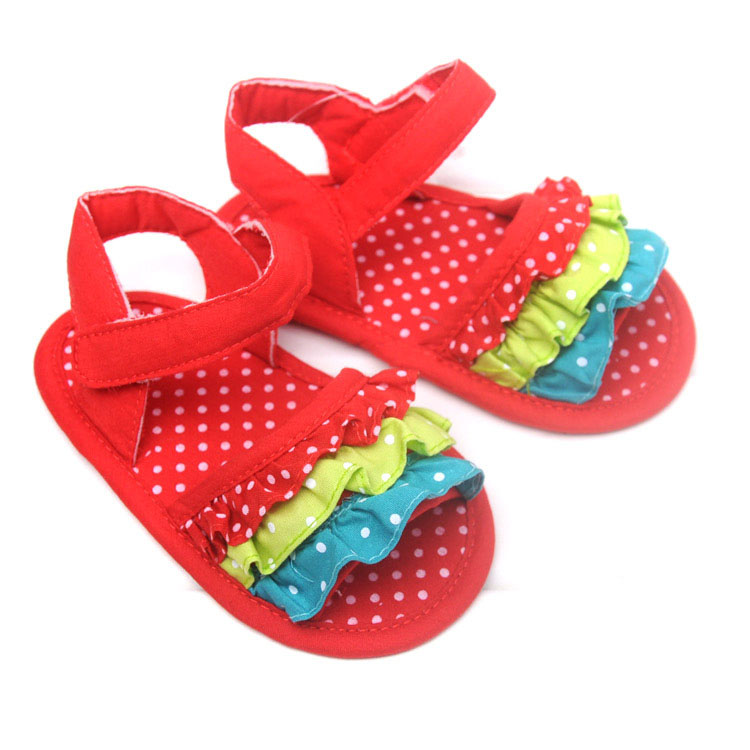 749889640ff8 Get Quotations · 2015 Floral Baby Girl Sandals Fashion Lace Cotton Summer  Infant Shoes 3 Size Girls Toddler Shoes