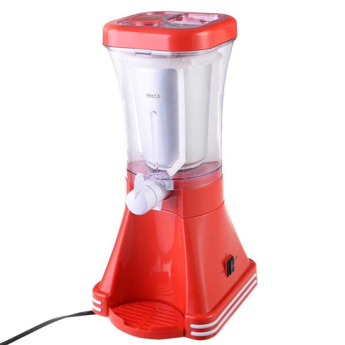 Sportstorm Red Slush Drink Home Maker Retro Machine Blender Ice Slushie Margarita Slurpee Frozen