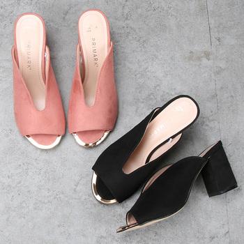 0b8b3d8cffe4 Модные женские туфли на толстом каблуке работу обуви на высоком каблуке  красивые босоножки
