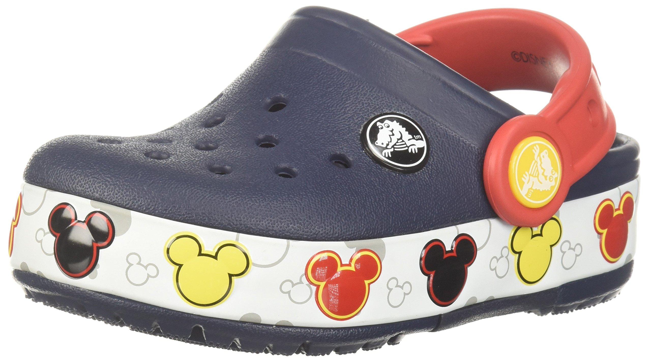 81986cb36 Get Quotations · Crocs Kids  Crocband Fun Lab Mickey Light-up Clog