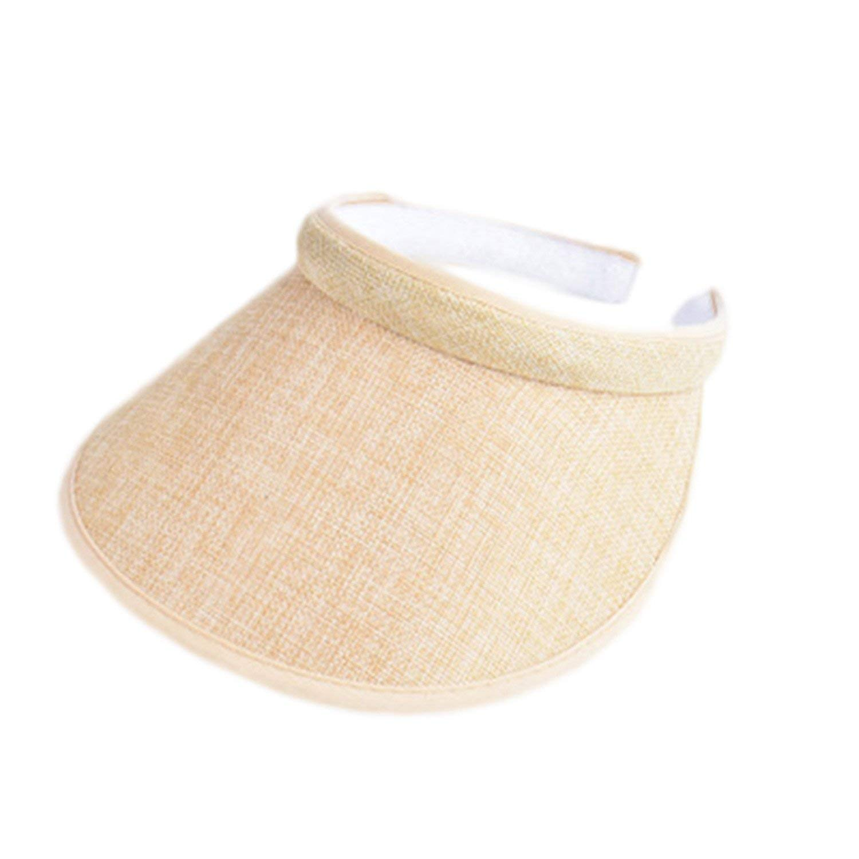 40e1fb3c5b362 Reneem Spring Summer Big Wide Brim Straw Sun Visors Hat Women GILR Fashion  Empty Top