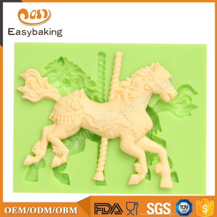 ES-0036 Animal Mould Mini Horse Right Facing Fondant Silicone Molds for cake decorating