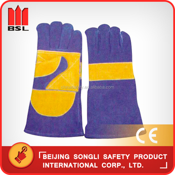 Slg-hd8020-b5 Cowsplit Leather Protective Welding Gloves