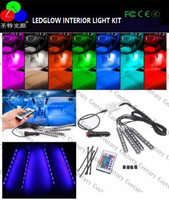 2017 Newest LEDGLOW 4PC Wireless GREEN LED Underbody UNDERGLOW NEON LIGHT KIT w Remote