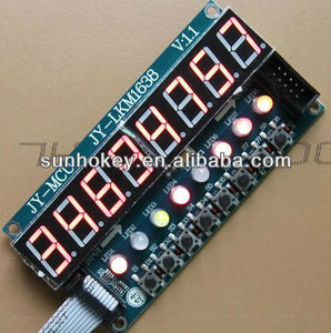 TM1638 8 digitals Module 8 LED 8 Digit Display 8 Keys Circuit Board