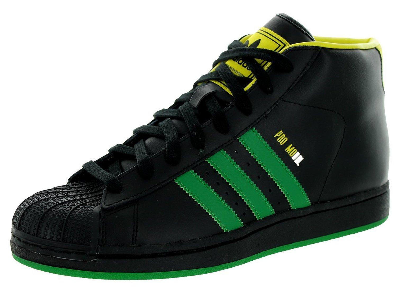 Get Quotations · Adidas Men's Pro Model Originals Cblack/Green/Byello  Basketball Shoe 9 Men US