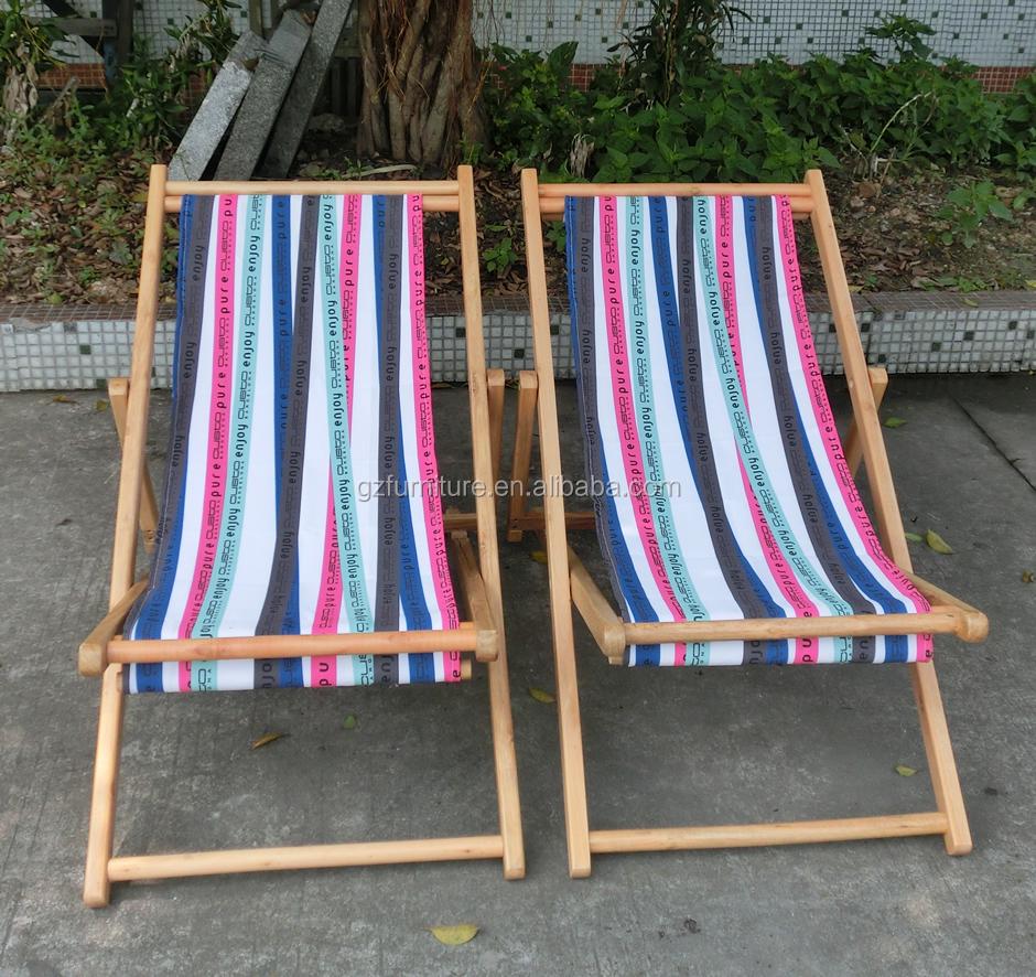 Sdraio In Legno E Tela.Vintage Legno E Tela Pieghevole Spiaggia Sedia A Sdraio Buy Sedia