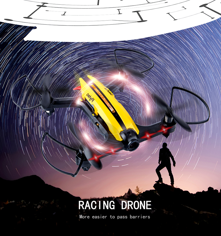 4.  T18D_Yellow_Racing_Drone_with_Altitude_Hold_WIFI_FPV_RC_Drone