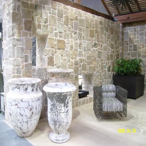 Chinese new yellow cream limestone wall