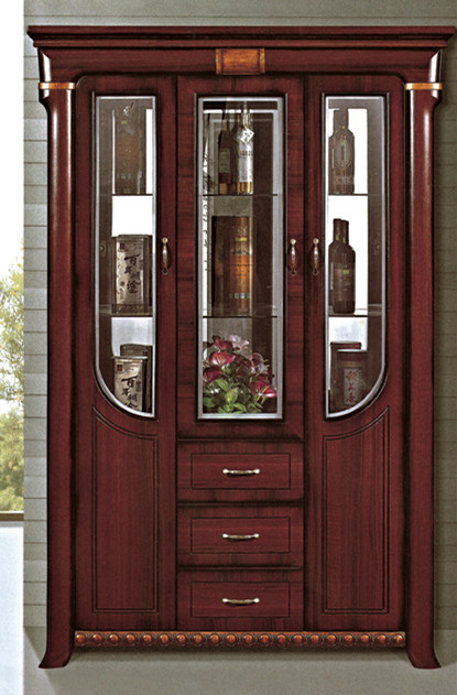 Factory Directly Sale Glass Decoration Wine Cabinet Antique Wooden ...